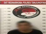 Residivis Kasus Narkoka Saat Diamankan di Polres Tanjungpinang