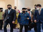 Wapres Ma'ruf Amin Bersama Menpar Ekraf Sandiaga Uno Saat Menghadiri Pembukaan Global Tourism Forum 2021