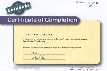 Servsafe Food Protection Manager Certification Description ...