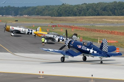The Great New England Air Show 2012 - WWII Aces: Corsair, Mustang and Thunderbolt