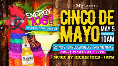 CINCO DE MAYO [at] MATADOR TACO + TEQUILA BAR ft. ENERGY 106.9 | Milwaukee365.com