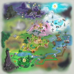 Toontown World Map  2005    MMOCentralForums Gallery Toontown World Map  2005
