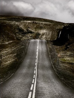 Download Alone Road Mobile Wallpaper | Mobile Toones