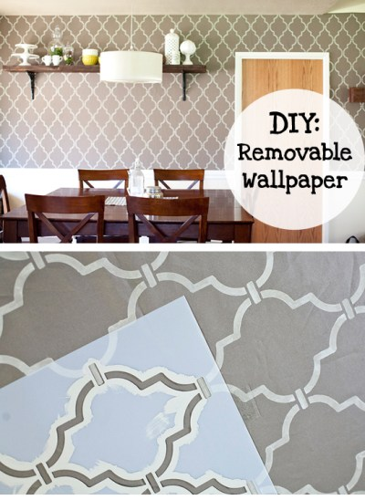 DIY removable wallpaper