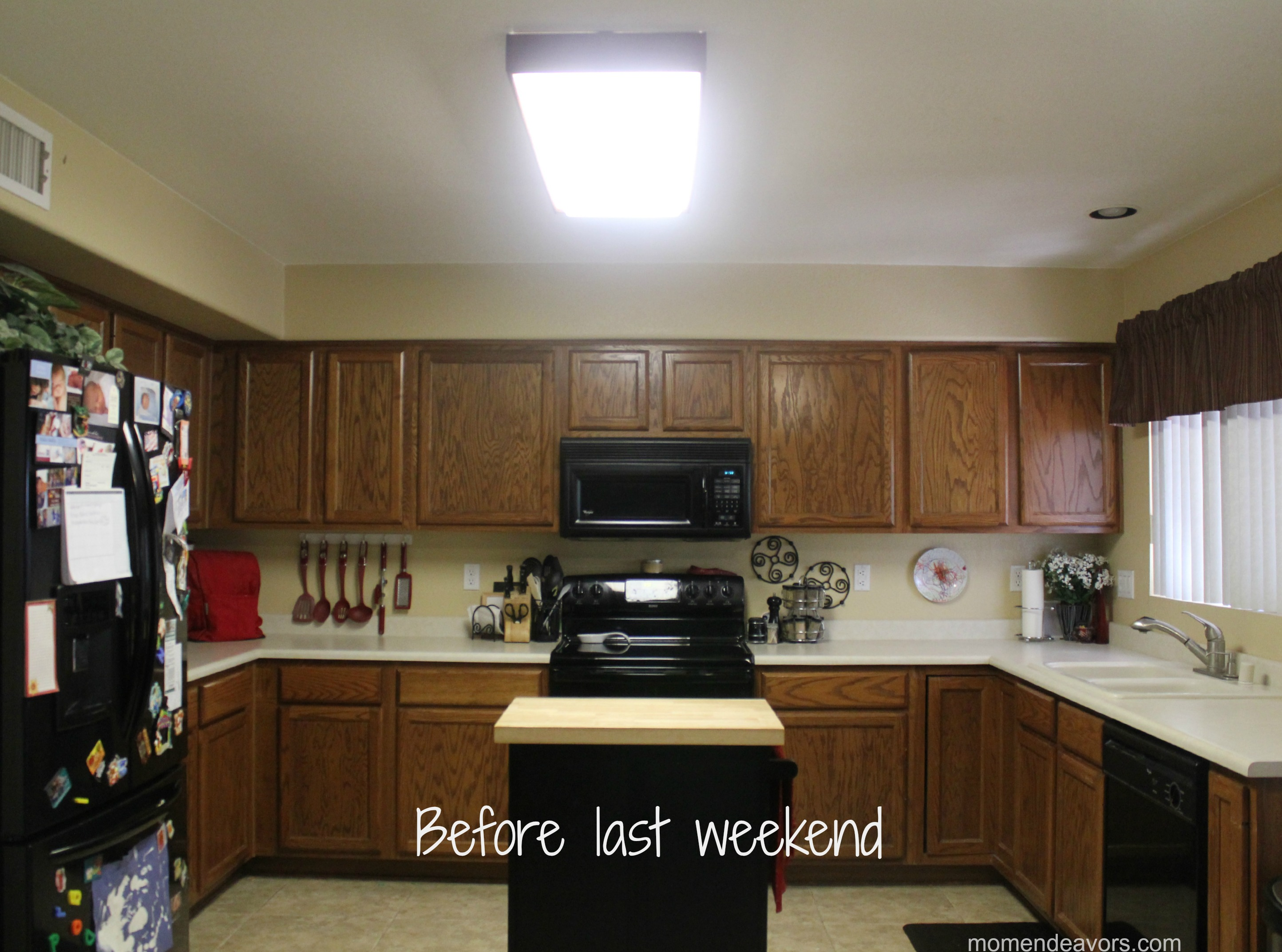 mini kitchen remodel kitchen light I