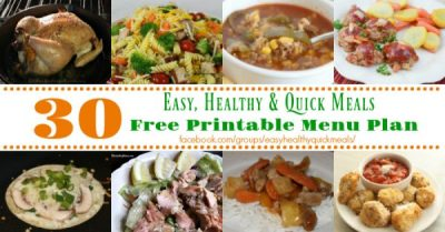 Easy, Healthy, & Quick Meals for November - Mommy Hates Cooking