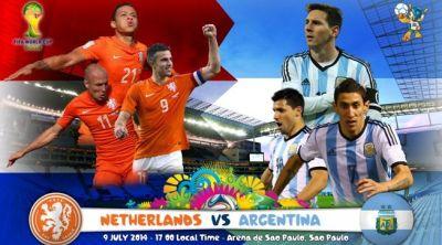 Campionatul Mondial de fotbal 2014: OLANDA-ARGENTINA, 23 ...
