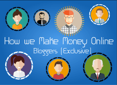 How We Bloggers Make Money Online (Infographic)
