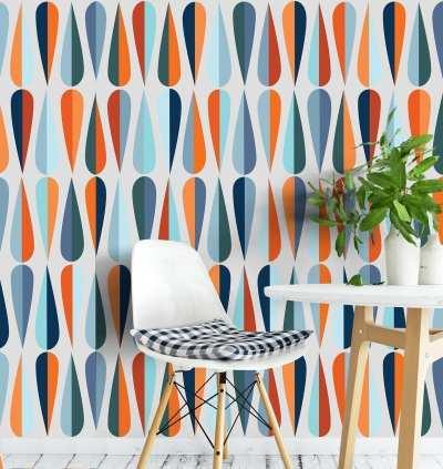 Mid Century Wallpaper - Moonwallstickers.com