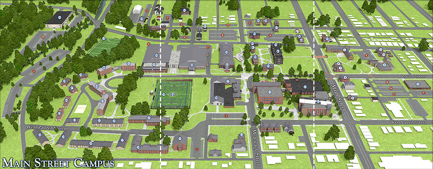 Campus Maps   Moravian College Main Campus