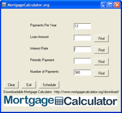 Downloadable Free Mortgage Calculator Tool