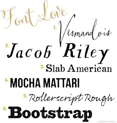 Rustic Wedding Invitation Fonts