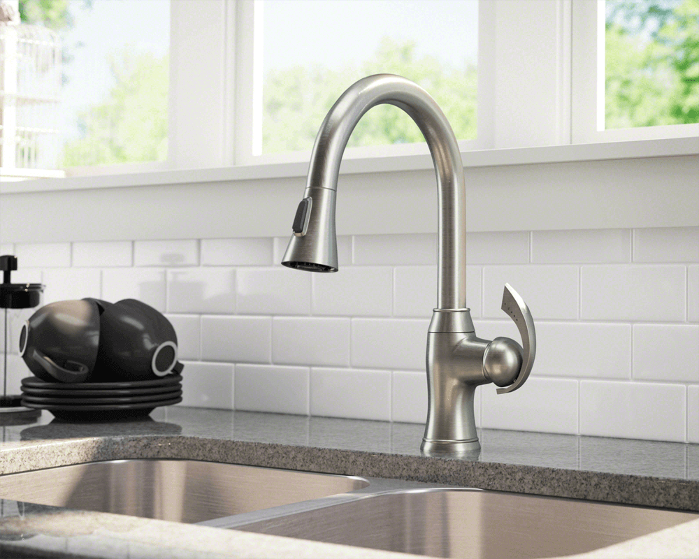 bn brushed nickel pull down kitchen faucet kitchen faucet pull down