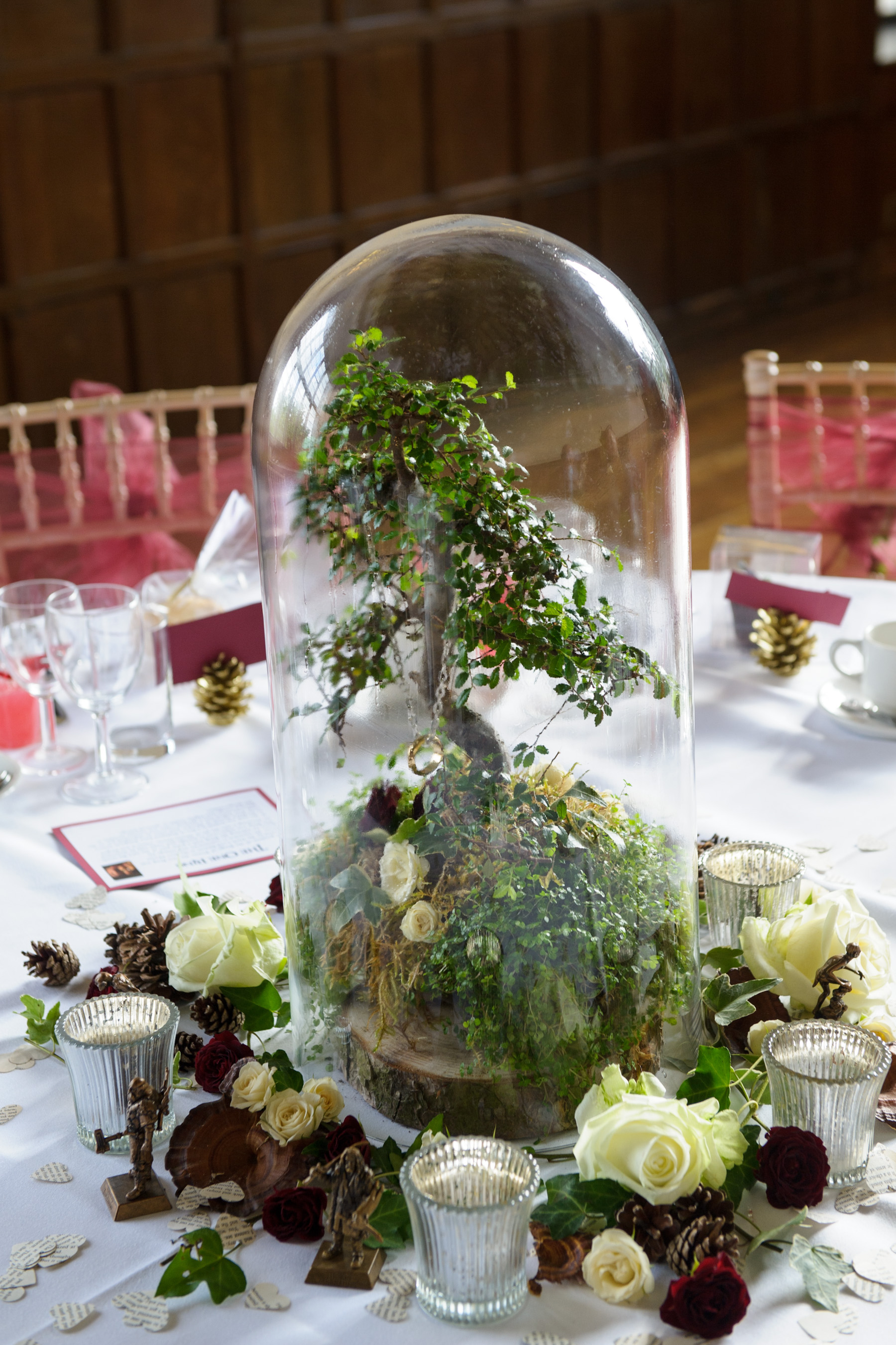 wed in middle earth a lord of the rings inspired wedding day with diy elements lotr wedding ring Layer Marney Tower Pengelly Photography lord of the rings centrepiece
