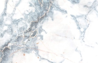 Deep Blue Clouded Marble Wall Mural | Murals Wallpaper