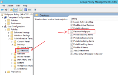 Change Windows Desktop Background Using Group Policy