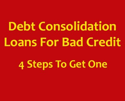 Debt consolidation loans for bad credit - get out of your debt