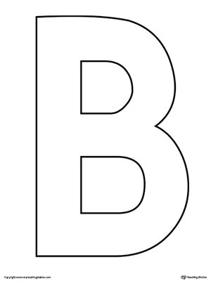 Uppercase Letter B Template Printable | MyTeachingStation.com