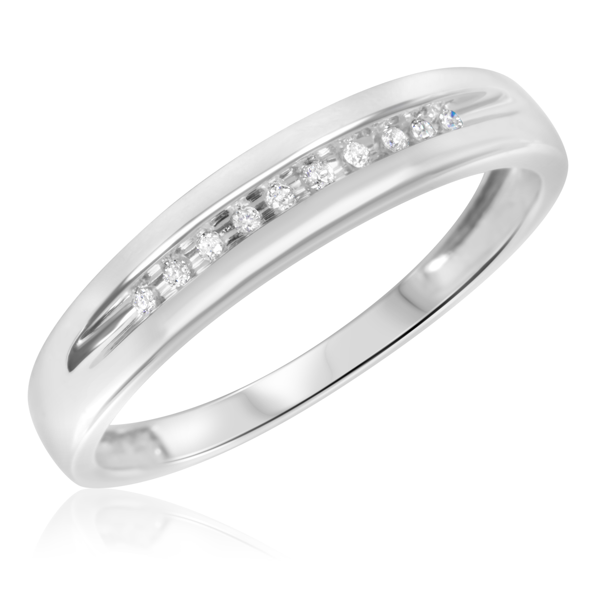 mens wedding band 1 4 ct tw blue diamonds 10k white gold mens diamond wedding bands Hover to zoom