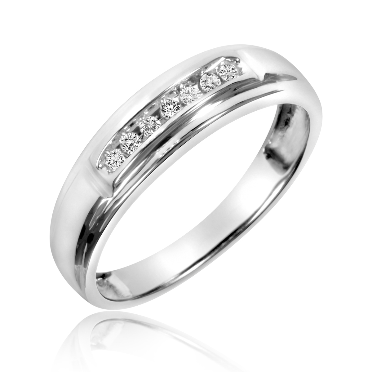 wedding bands sets Padgett s Marquise Cut CZ Wedding Ring Set Double Ring Guards