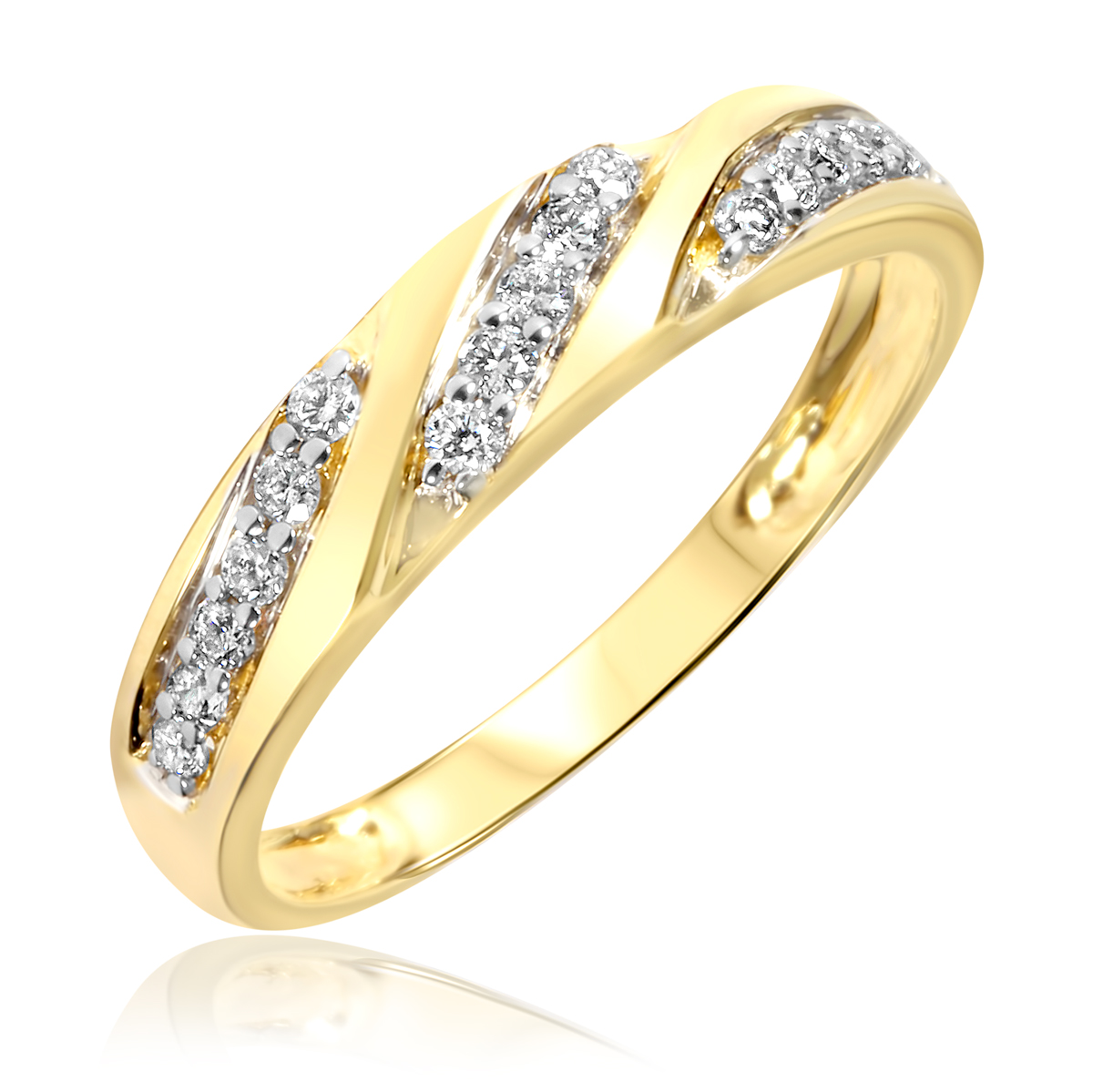 womens wedding band 10k white gold women wedding rings Hover to zoom