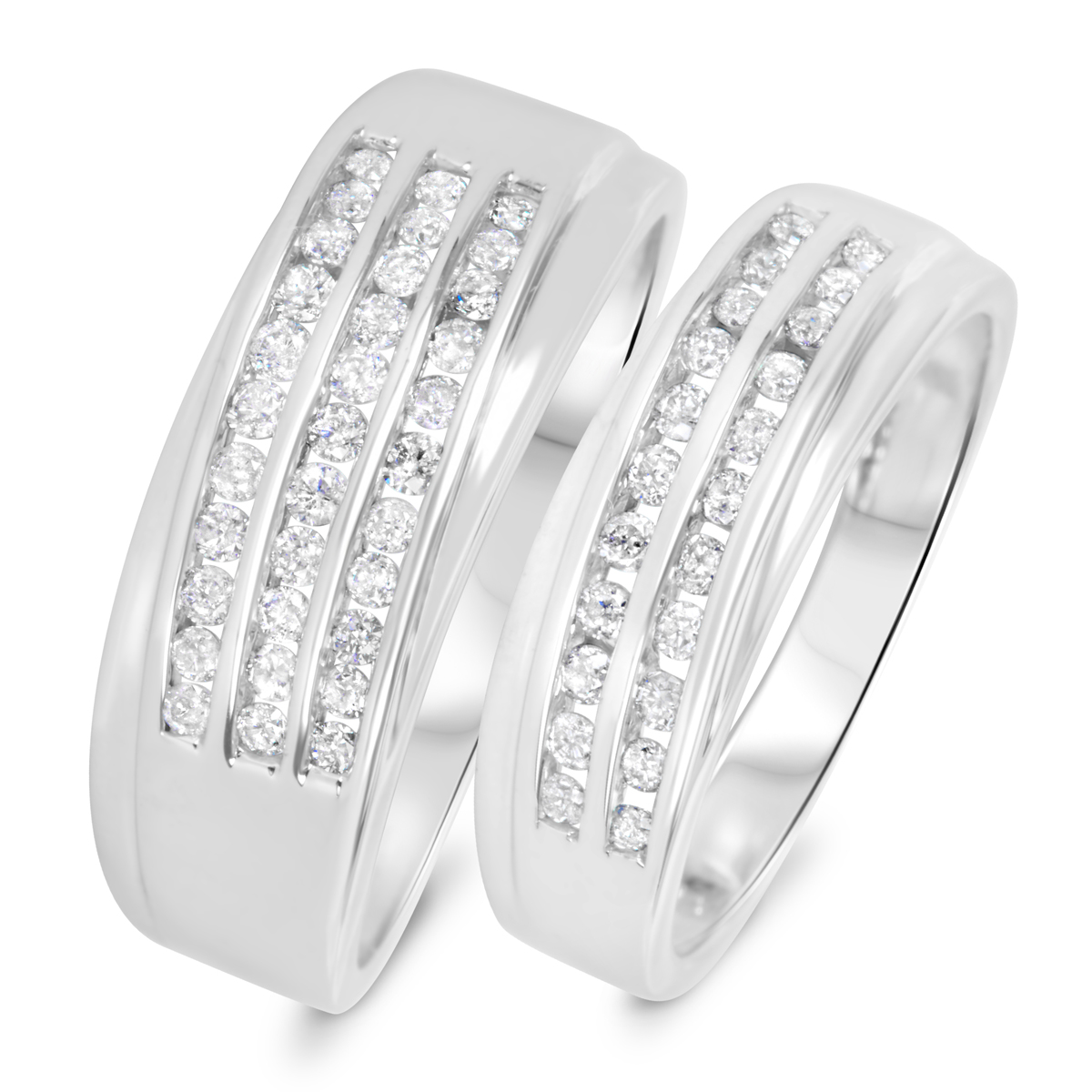 wedding bands sets The Perfect Pair Set of 2 Silver Rings Men s Wedding Band Women s Wedding Ring Silver Wedding Rings Wedding Band Set Traditional Bands