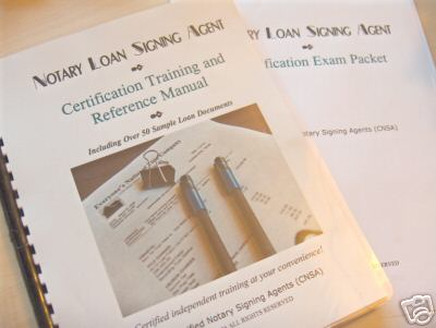 notary loan signing agent training and certification