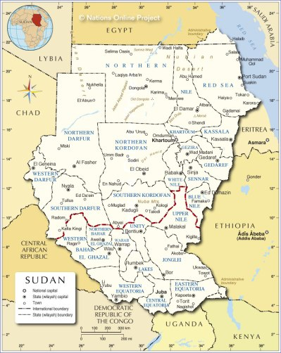 Administrative Map of Sudan - Nations Online Project