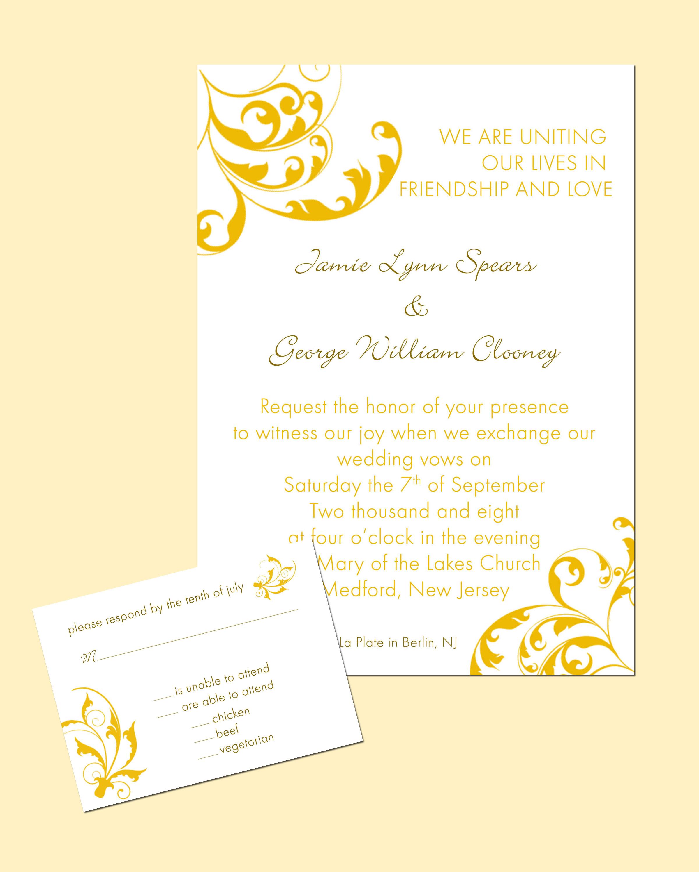 yellow wedding invitation card yellow wedding invitations Yellow Wedding Invitations Nyc Styles