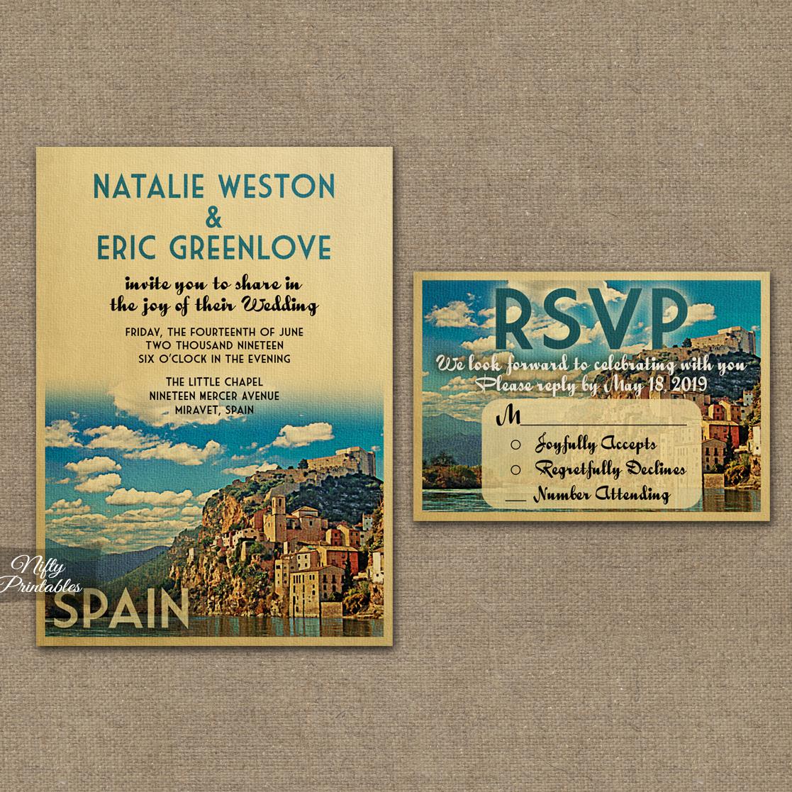 spain wedding invitations spanish wedding invitations Spain Wedding Invitations VTW