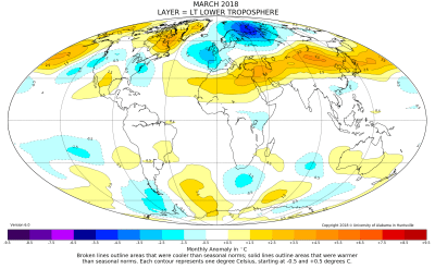 Global Temperature Update for April, 2018 | Watts Up With That?