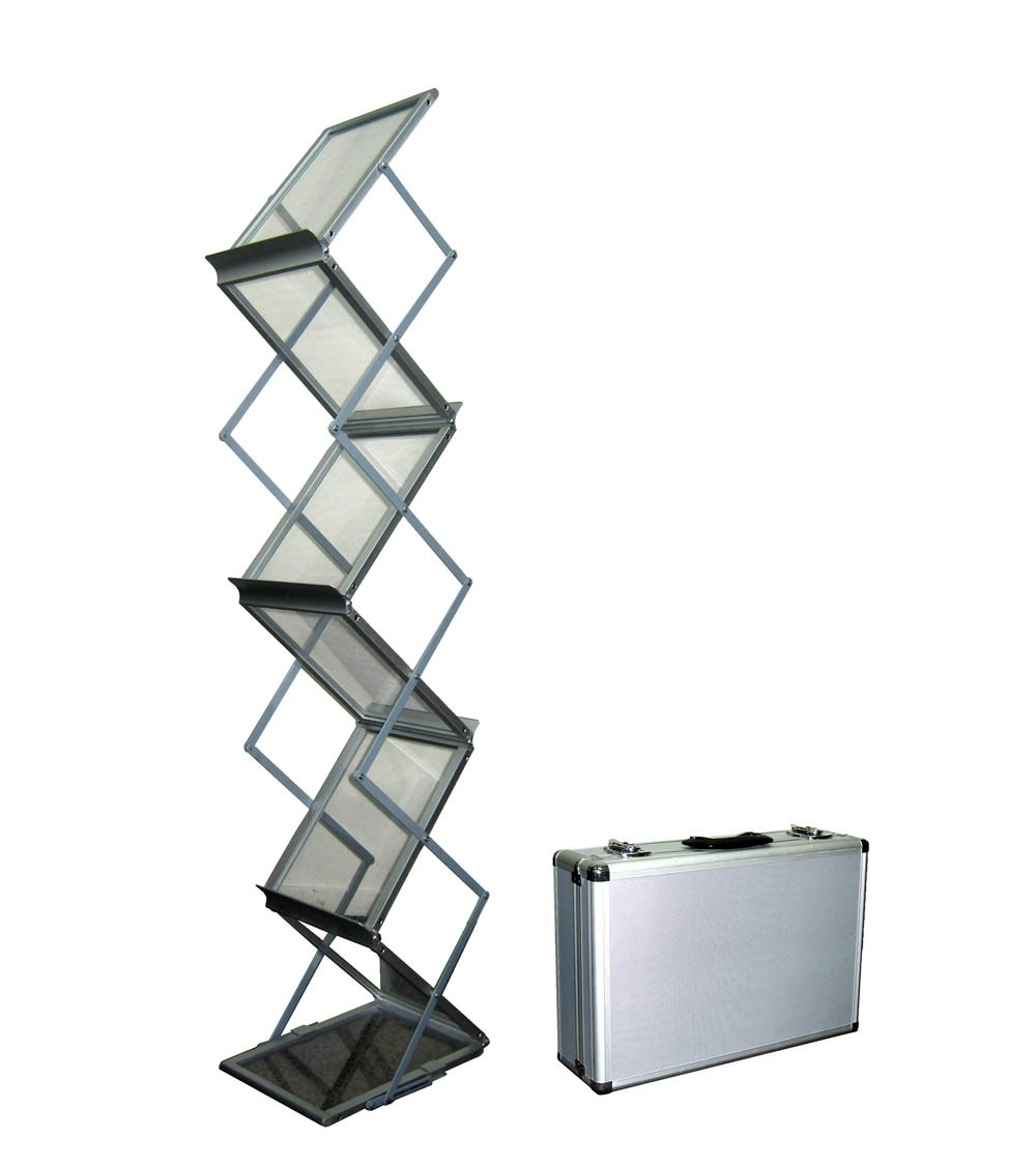 Brochure Holders  Brochure Stand   Racks   Numart Display   Numart     Foldable Metal 6 Pocket Brochure Stand
