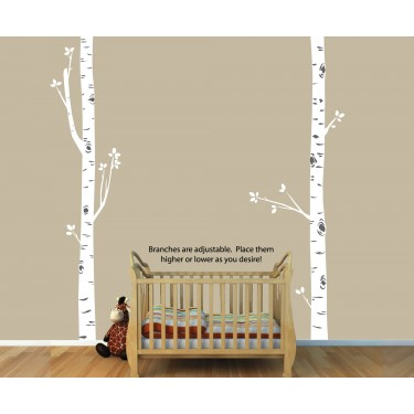 Birch Tree Wall Decals and Birch Tree Wall Decoration For Kids Rooms