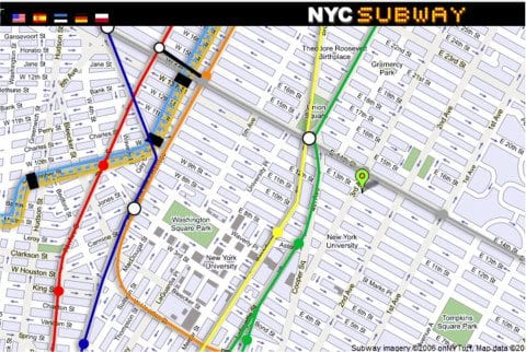 New York City Street Map   FREE NYC Subway  Tourist  Neighborhood New York City Street Map