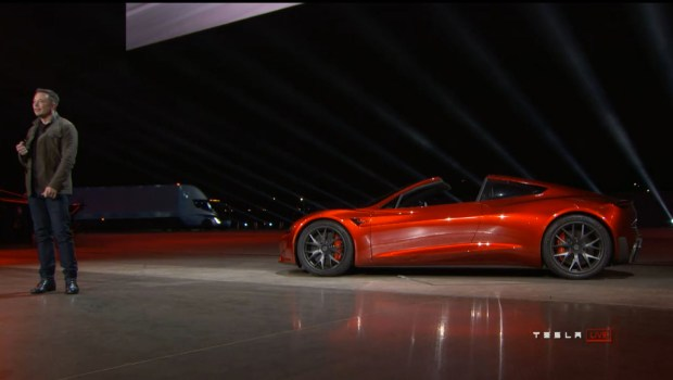 Photos: Elon Musk unveils Tesla's new electric semi truck and new Roadster – Orange County Register