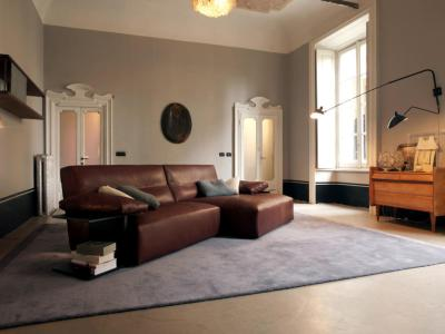 Brown leather sofa | Interior Design Ideas - Ofdesign