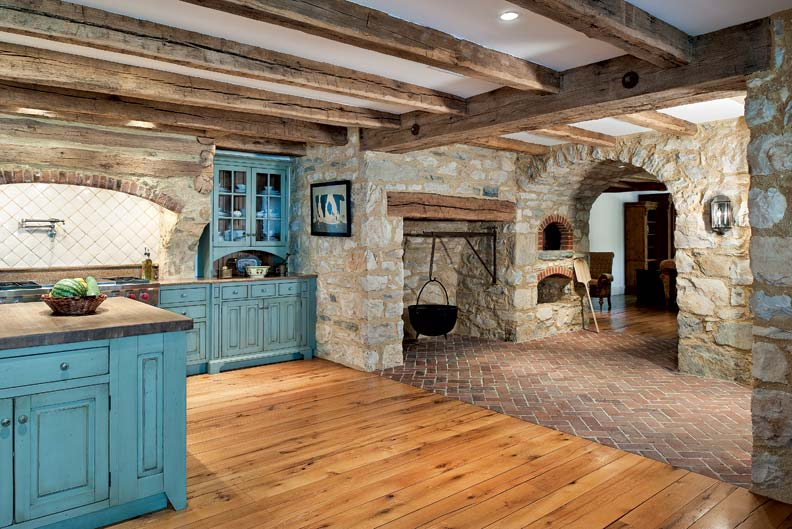 primitive colonial inspired kitchen colonial kitchen sink The kitchen offers a sense of history with its beehive ovens as well as a large