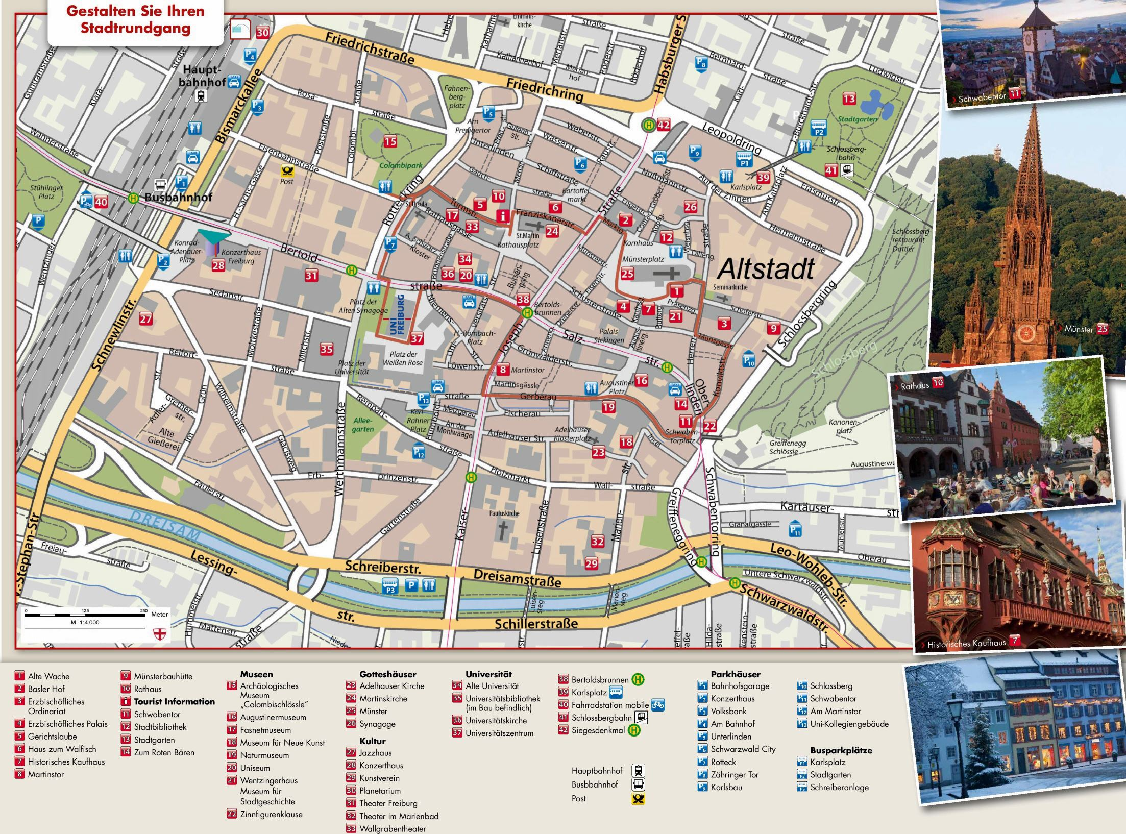 Large Freiburg im Breisgau Maps for Free Download and Print   High     Large map of Freiburg im Breisgau 1