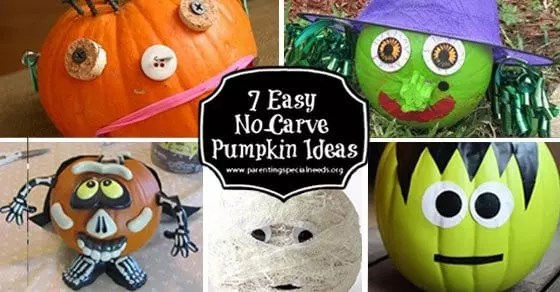 7 Easy No Carve Pumpkin Decorating Ideas   Parenting Special Needs     7 Easy No Carve Pumpkin Decorating Ideas   Parenting Special Needs Magazine
