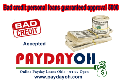 Bad credit personal loans guaranteed approval 5000 - Opt for direct payday lending than brokerage