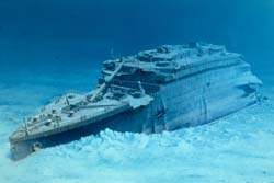 PBS Online   Lost Liners   Titanic The Titanic s bow as it appears today