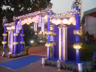 Images of Large and Decorated Wedding Venue in Kolkata