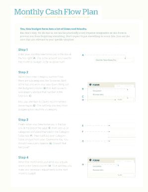 Monthly Cash - Fill Online, Printable, Fillable, Blank | PDFfiller