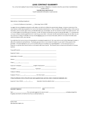Contract Of Guaranty - Fill Online, Printable, Fillable, Blank | PDFfiller