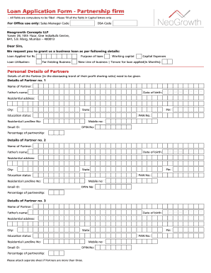 Application Form Partnership A4 - bneogrowthbbinb Fill Online, Printable, Fillable, Blank ...
