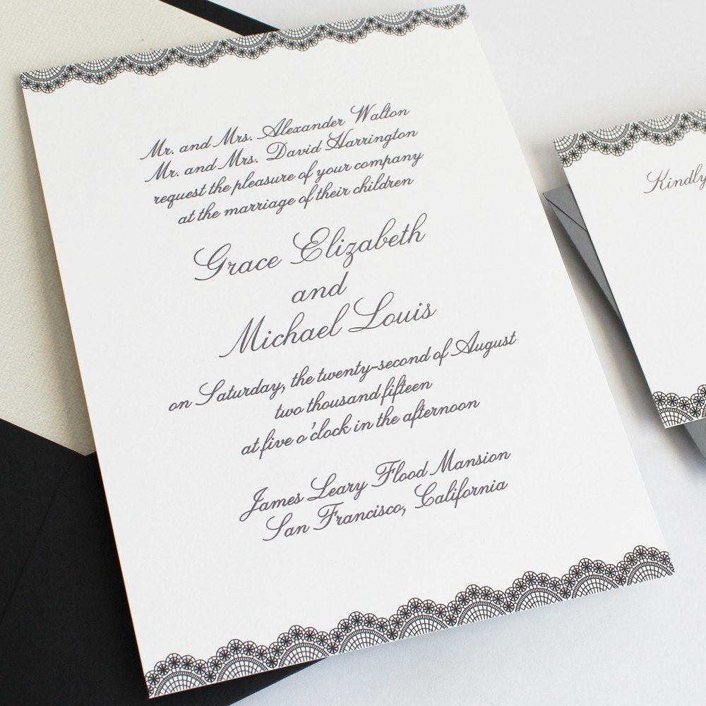 how to word your wedding invitations and assemble them photo wedding invitations How to Word and Assemble Wedding Invitations