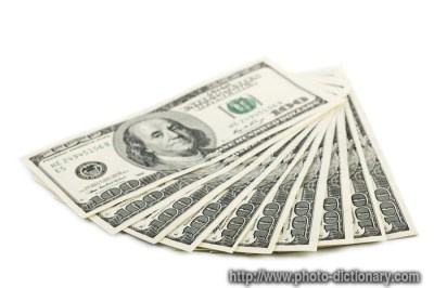 money - photo/picture definition at Photo Dictionary - money word and phrase defined by its ...