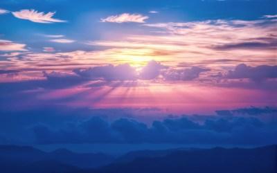 Sun And Clouds Wallpaper   PixelsTalk.Net