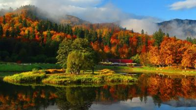 Autumn Mountain Wallpapers | PixelsTalk.Net