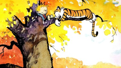 Cute Calvin and Hobbes Wallpapers | PixelsTalk.Net